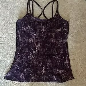 Purple and black sports tank Top. Sz large